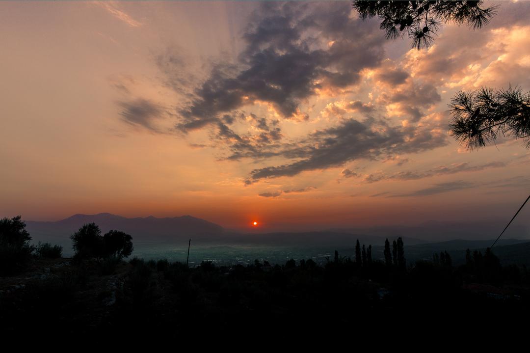horizon-zonsondergang